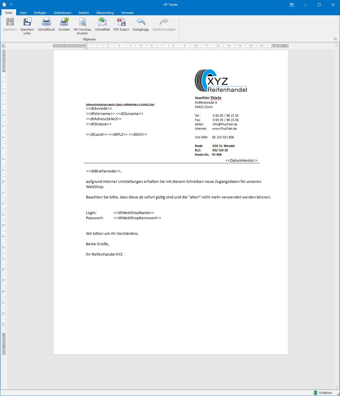 Serienbrief Vorlage Erstellen Und Bearbeiten