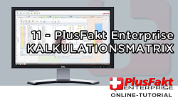 Kalkulationsmatrix Branchensoftware PlusFakt Enterprise